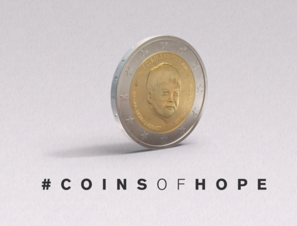 Бельгия выпустила монету, приуроченную к Международному дню пропавших детей.