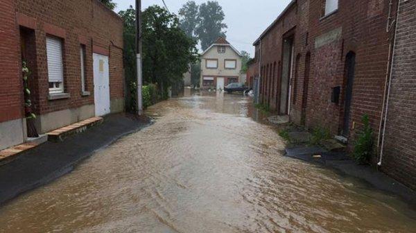 Сильные дожди в Бельгии могут вызвать наводнение.